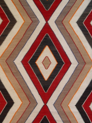 Red Mesa Navajo Weaving : Historic : GHT 755 : 53″ x 80″ - Getzwiller's Nizhoni Ranch Gallery