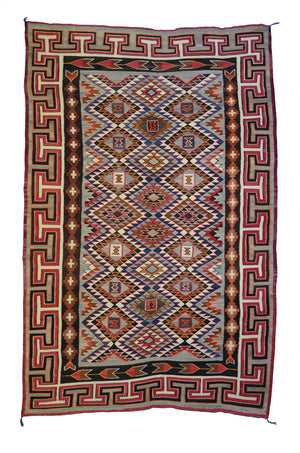 "Teec Nos Pos Navajo Weaving : Antique : GHT 84 : 62"" x 100"""