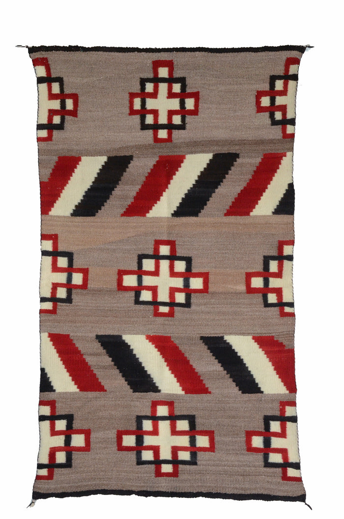 Double Saddle Blanket : Historic Navajo Weaving : GHT 2273