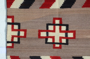 Double Saddle Blanket : Historic Navajo Weaving : GHT 2273 - Getzwiller's Nizhoni Ranch Gallery