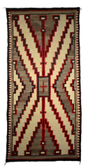 SOLD Crystal / Storm Pattern Navajo Weaving : Historic : GHT 2277