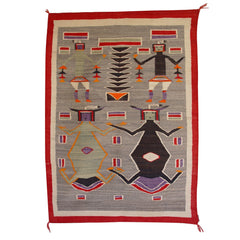 Sandpainting - Mother Earth Father Sky Navajo Weaving : Historic : GHT 1020