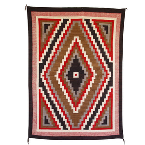 Crystal Navajo Weaving : Antique Native American rug : GHT 1051 : 57″ x 78″ - Getzwiller's Nizhoni Ranch Gallery