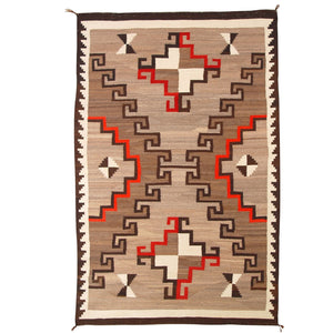 Crystal Navajo Weaving : Historic : GHT 1939 : 53″ x 83″ - Getzwiller's Nizhoni Ranch Gallery