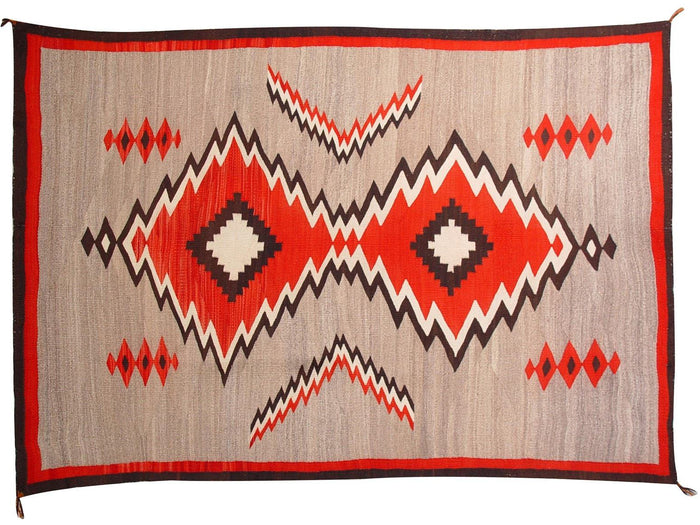 Crystal JB Moore Plate III and XI Variant Navajo Weaving : Historic : GHT 1941 : 50″ x 76″