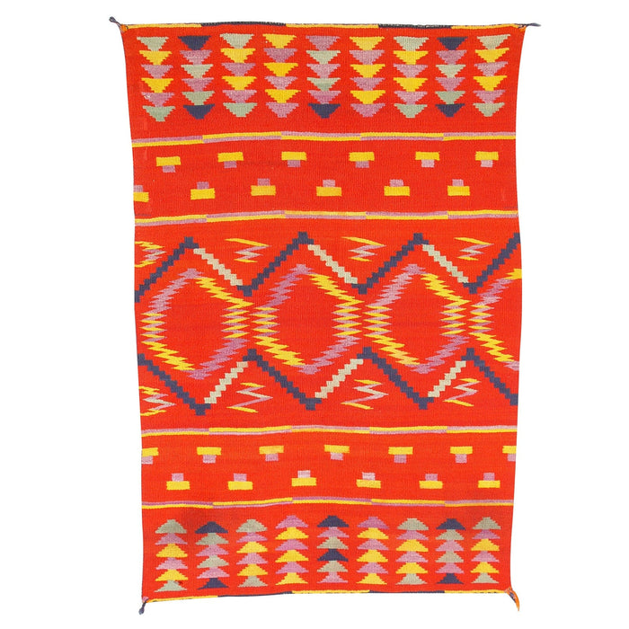 Child's Blanket Navajo Weaving : Historic : GHT 1967 : 33″ x 50″
