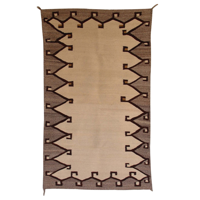 Saddle Blanket - Double Navajo Weaving : Historic : GHT 1983 : 32″ x 54″