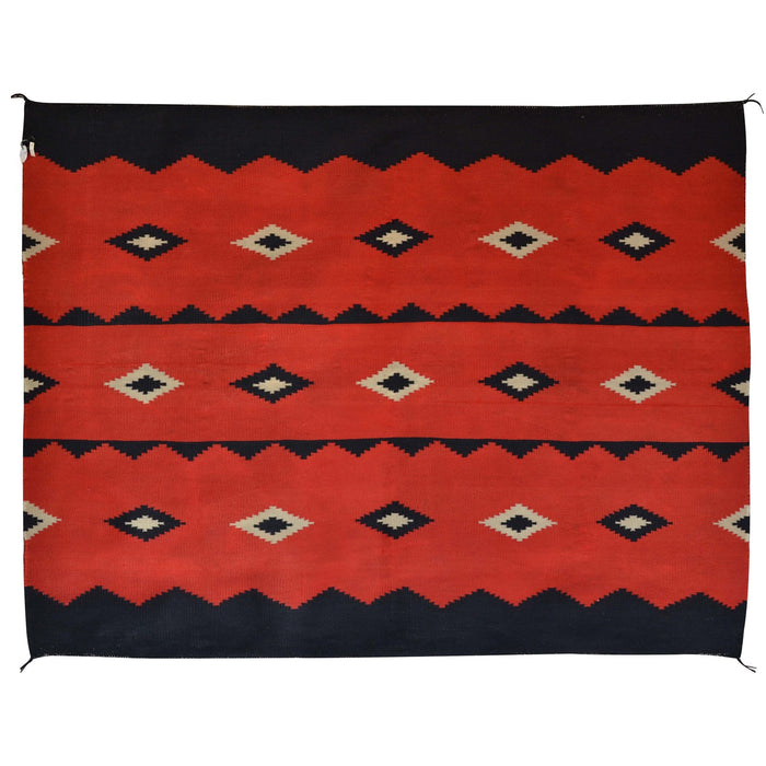 "Germantown Woman's Manta Navajo Weaving : Historic : GHT 1988 :  54"" x 41″"