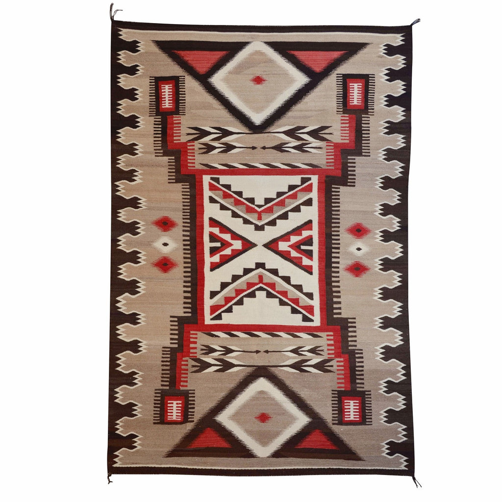 Crystal / Storm Pattern Pictorial Navajo Weaving : Historic : GHT 1991 - Getzwiller's Nizhoni Ranch Gallery