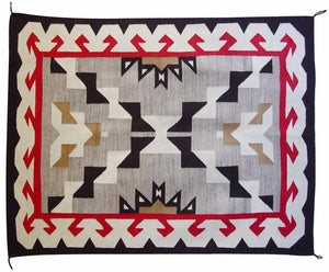 Crystal / Storm Pattern American Indian Rug : Vintage : GHT 2046 : 47″ x 62″