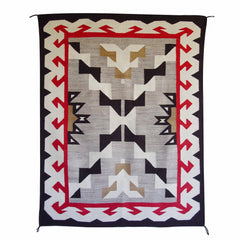 Crystal / Storm Pattern Navajo Weaving : Historic : GHT 2046
