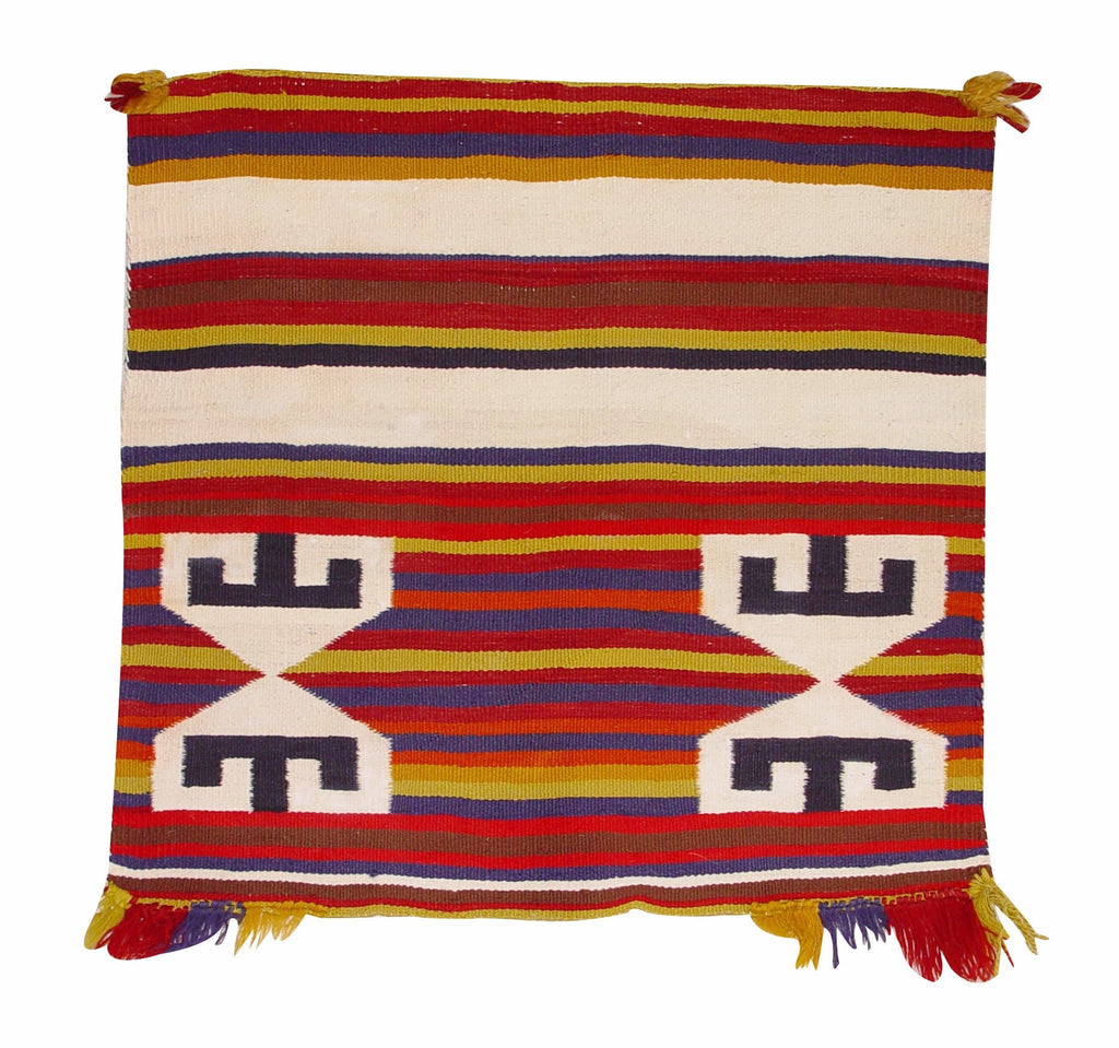 Germantown Single American Indian Saddle Blanket : Antique : GHT 2062 : 28″ x 26″ - Getzwiller's Nizhoni Ranch Gallery