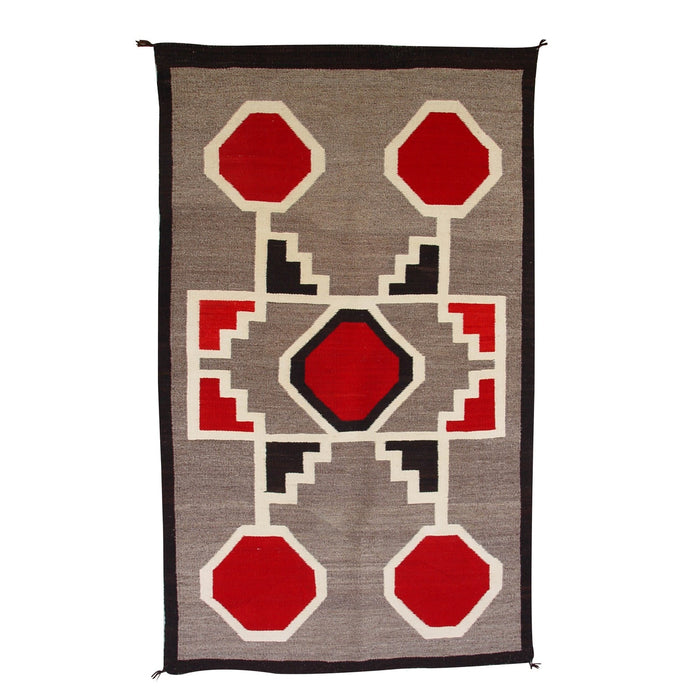 Crystal / Storm Pattern American Indian Rug : Antique : GHT 2087 : 36.5″ x 61″