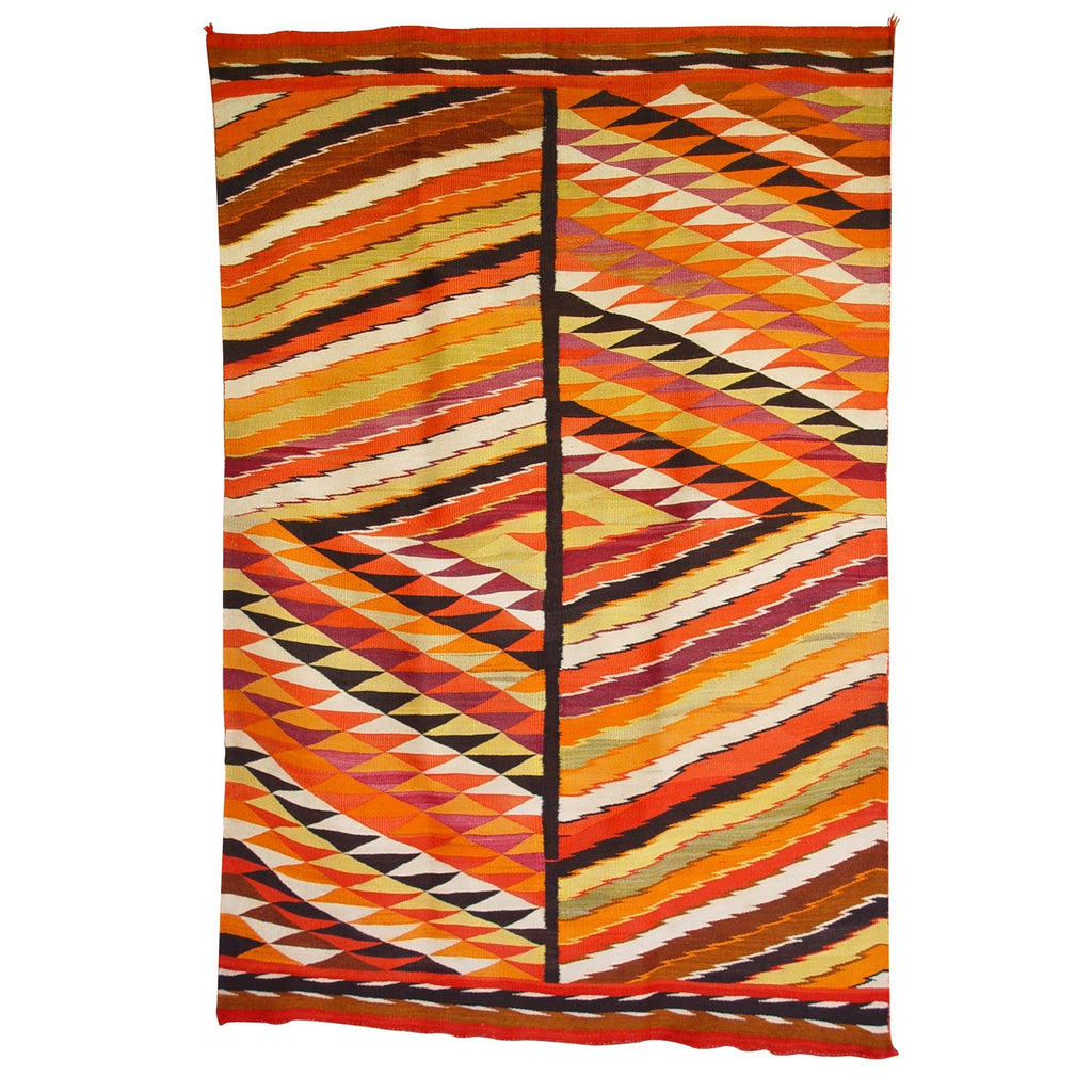Transitional Eyedazzler Navajo Weaving : Historic : GHT 2099 - Getzwiller's Nizhoni Ranch Gallery