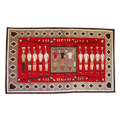 Yei Be Chei Pictorial / Storm Pattern Navajo weaving : Historic : GHT 2103