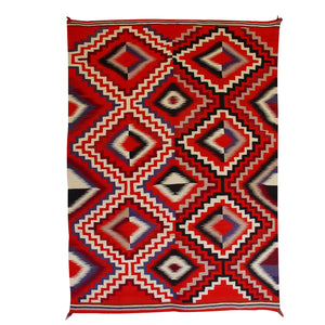 Germantown Optical Navajo Weaving : Historic : GHT 2203 : 49 1/2″ x 68″ - Getzwiller's Nizhoni Ranch Gallery