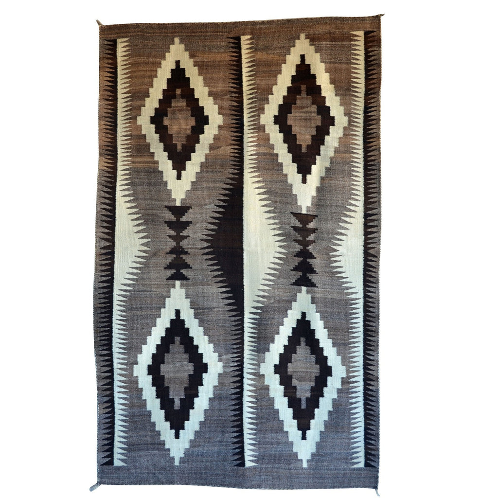 Transitional Optical Navajo Weaving : Historic : GHT 2206 : 46″ x 76″ - Getzwiller's Nizhoni Ranch Gallery