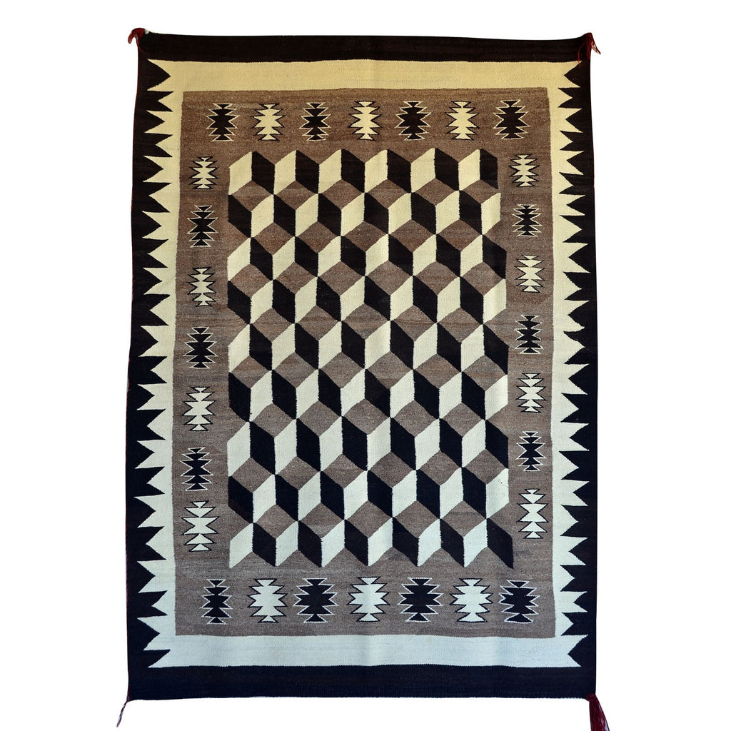 HOLD Optical Navajo Weaving : Historic : GHT 2207 : 50″ x 71″ - Getzwiller's Nizhoni Ranch Gallery
