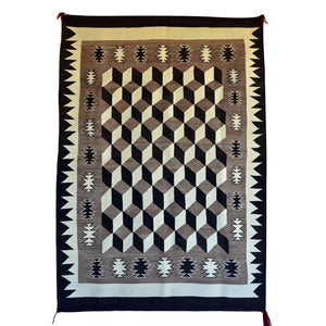Optical Navajo Weaving : Historic : GHT 2207 - Getzwiller's Nizhoni Ranch Gallery