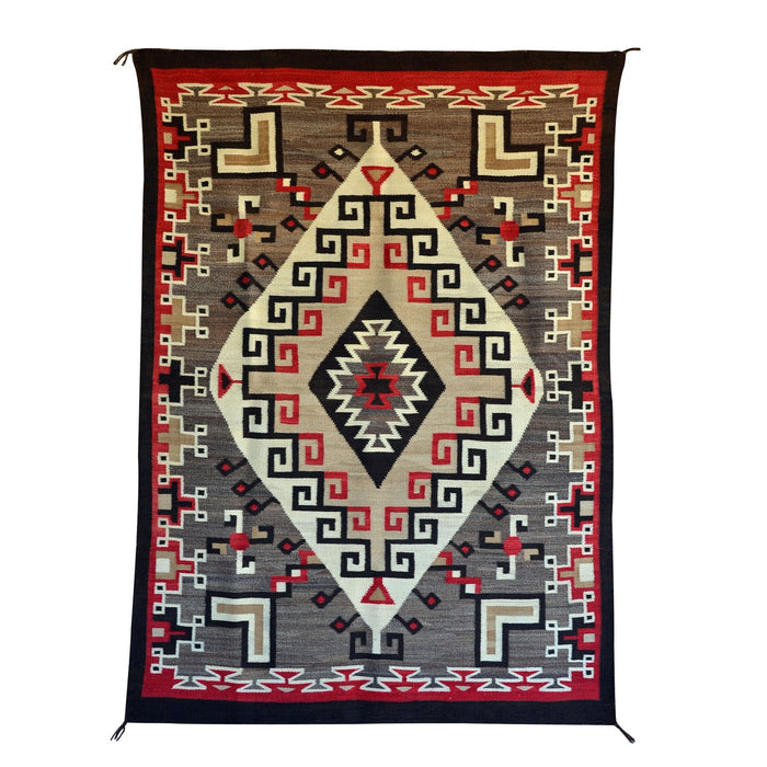 Crystal / Storm Pattern Navajo Weaving : Historic : GHT 2208 : 48″ x 69″
