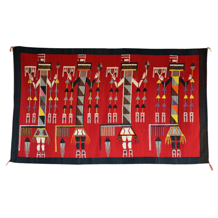 "HOLD - Yei - Lukachukai Navajo Weaving : Historic : GHT 2213 : 42"" x 70"""