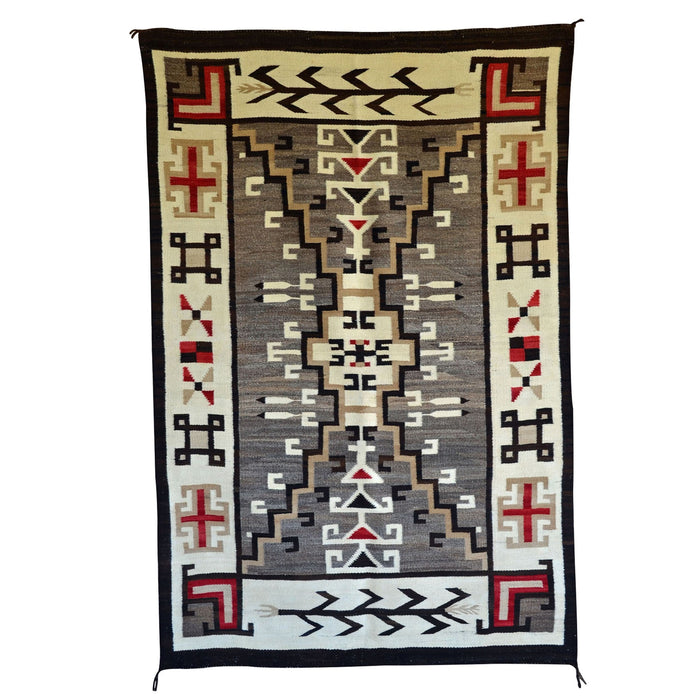"Crystal / Storm Pattern / Pictorial Navajo Weaving : Historic : GHT 2241 : 44"" x 66"""
