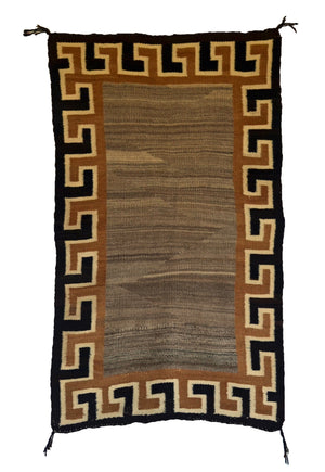 Double Saddle Blanket -Navajo Weaving : Historic : GHT 2257 : 29″ x 43″ - Getzwiller's Nizhoni Ranch Gallery