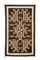 Two Grey Hills : Historic Navajo Rug : GHT 2258