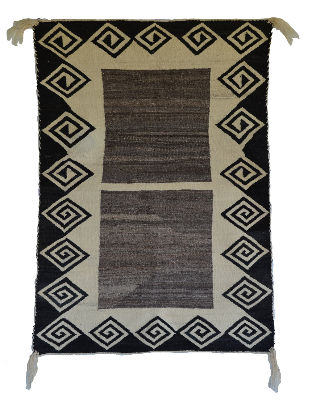 Double Saddle Blanket : Historic Navajo Weaving : JKC-1 : 34″ x 48″ - Getzwiller's Nizhoni Ranch Gallery