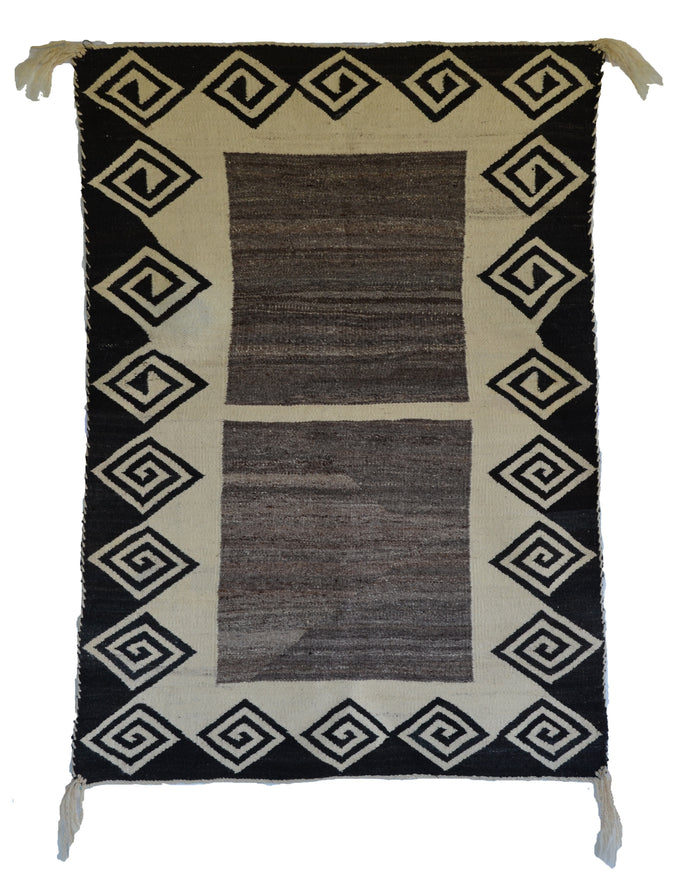 Double Saddle Blanket : Historic Navajo Weaving : JKC-1 : 34″ x 48″