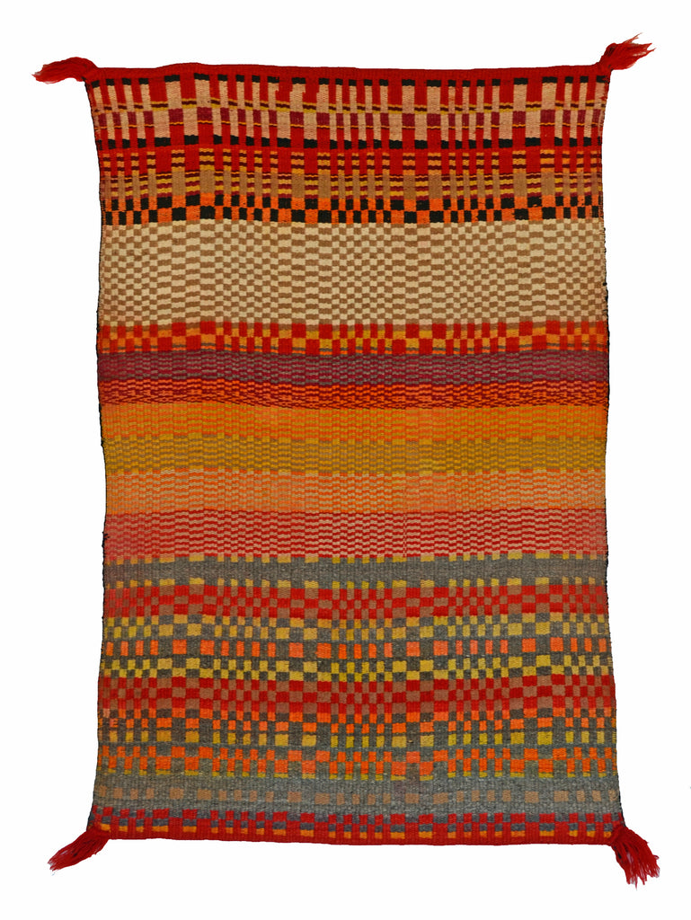 Navajo Twill Double Saddle Blanket  : Historic : GHT 2281 - Getzwiller's Nizhoni Ranch Gallery