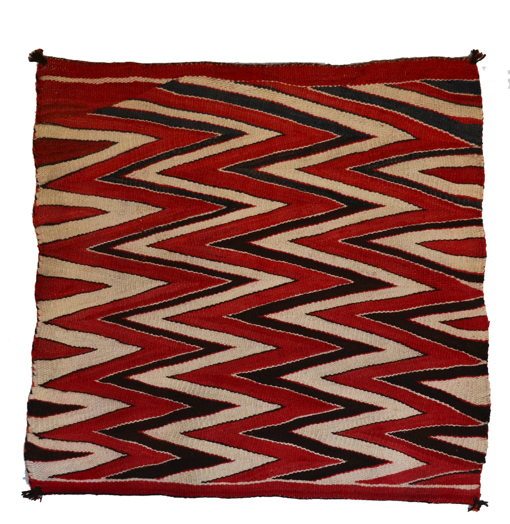 "Saddle Blanket - Single Wedge Weave Saddle Blanket : Historic : GHT 2288 : 33"" x 36"" - Getzwiller's Nizhoni Ranch Gallery"