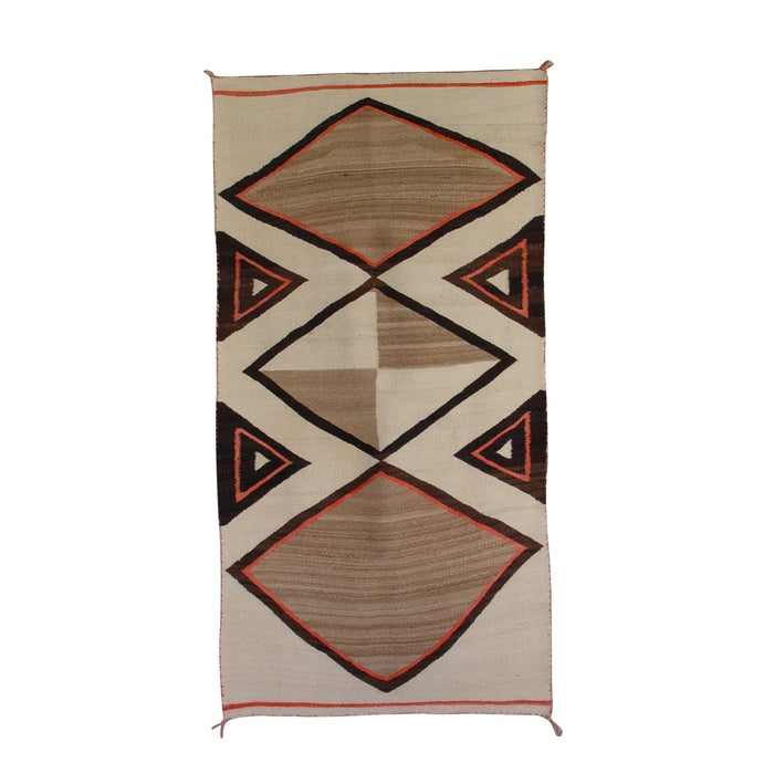 Vintage Native American Double Saddle Blanket : Transitional period : GHT 710
