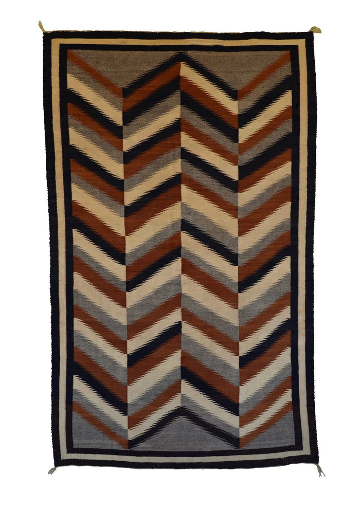 Optical Art Eye Dazzler Navajo Rug Weaving : Historic : GHT 731