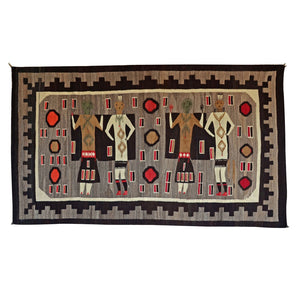 "Yei Be Chei Navajo Weaving : Historic : GHT 757 : 80"" x 46"" - Getzwiller's Nizhoni Ranch Gallery"
