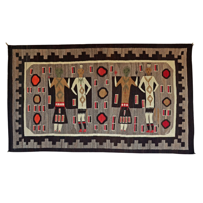 "Yei Be Chei Navajo Weaving : Historic : GHT 757 : 80"" x 46"""