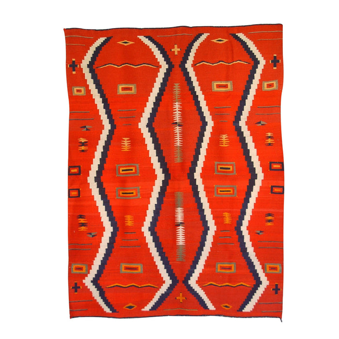 Serape Navajo Weaving : Historic : GHT 778 : 54″ x 76″