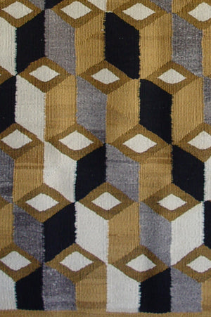Double Saddle Blanket : Optical: Historic Navajo Weaving : GHT 873 - Getzwiller's Nizhoni Ranch Gallery