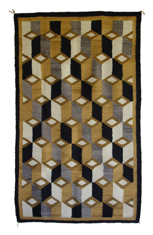 HOLD Double Saddle Blanket : Optical: Historic Navajo Weaving : GHT 873 - Getzwiller's Nizhoni Ranch Gallery
