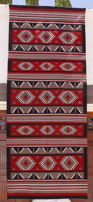 Ganado Runner Navajo Weaving : Rosie Tsinniginnie : 1769 : 4′ x 10′ - Getzwiller's Nizhoni Ranch Gallery
