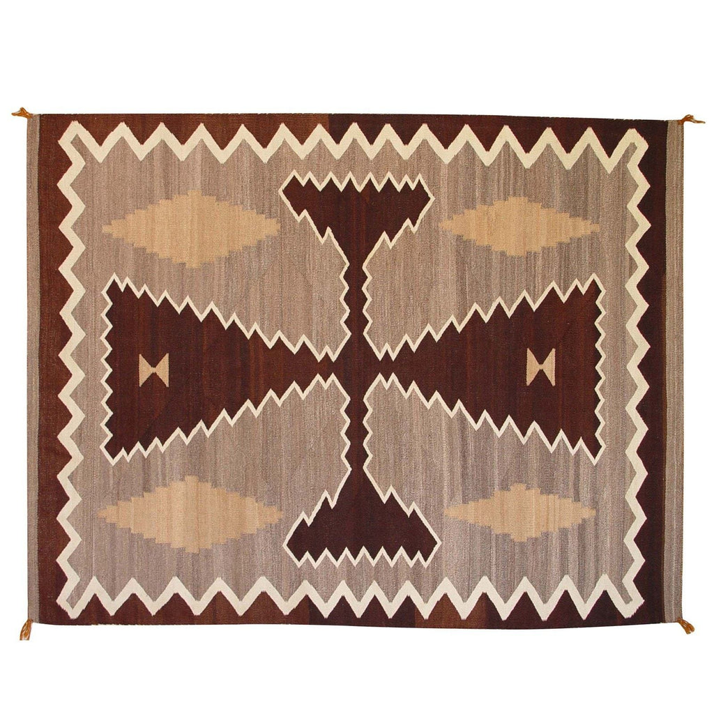 "Two Grey Hills / Crystal Navajo Weaving : Historic : GHT 2008 : 63"" x 84"" - Getzwiller's Nizhoni Ranch Gallery"