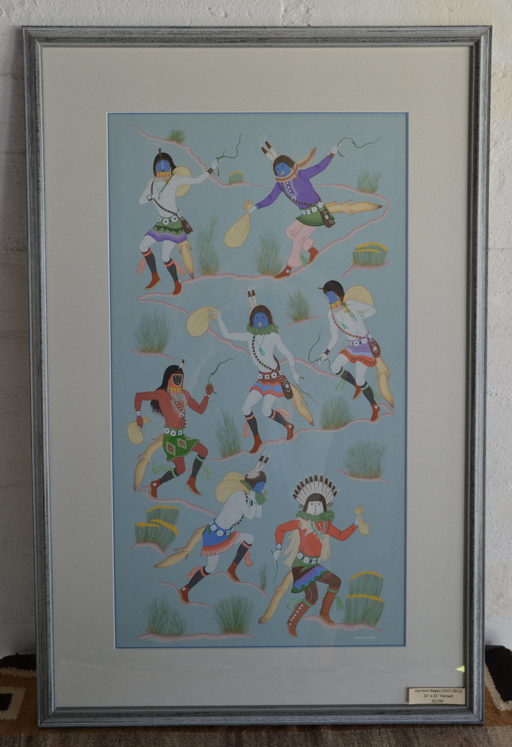 Painting - Navajo Ceremonial Night Chant : Harrison Begay Sr. - Getzwiller's Nizhoni Ranch Gallery