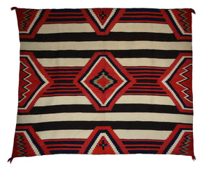 Antique 3rd phase chief blanket with cochineal dye
