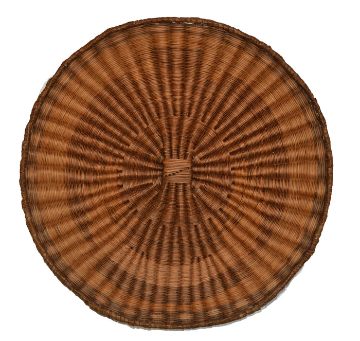 Native American Basket : Hopi Wicker Plaque : Basket 23