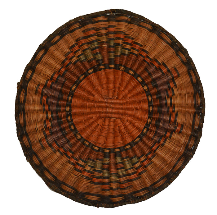 Native American Basket : Hopi Wicker Plaque : Basket 24