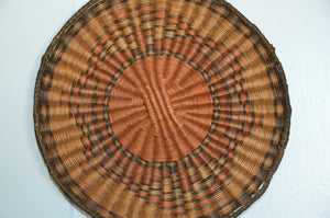 Native American Basket : Hopi Wicker Plaque : Basket 24 - Getzwiller's Nizhoni Ranch Gallery