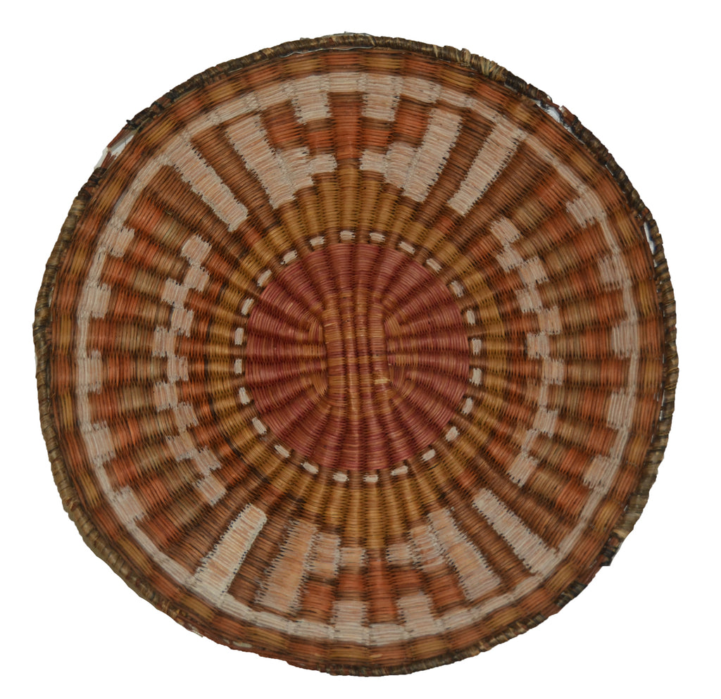 Native American Basket : Hopi Wicker Plaque : Basket 25 - Getzwiller's Nizhoni Ranch Gallery