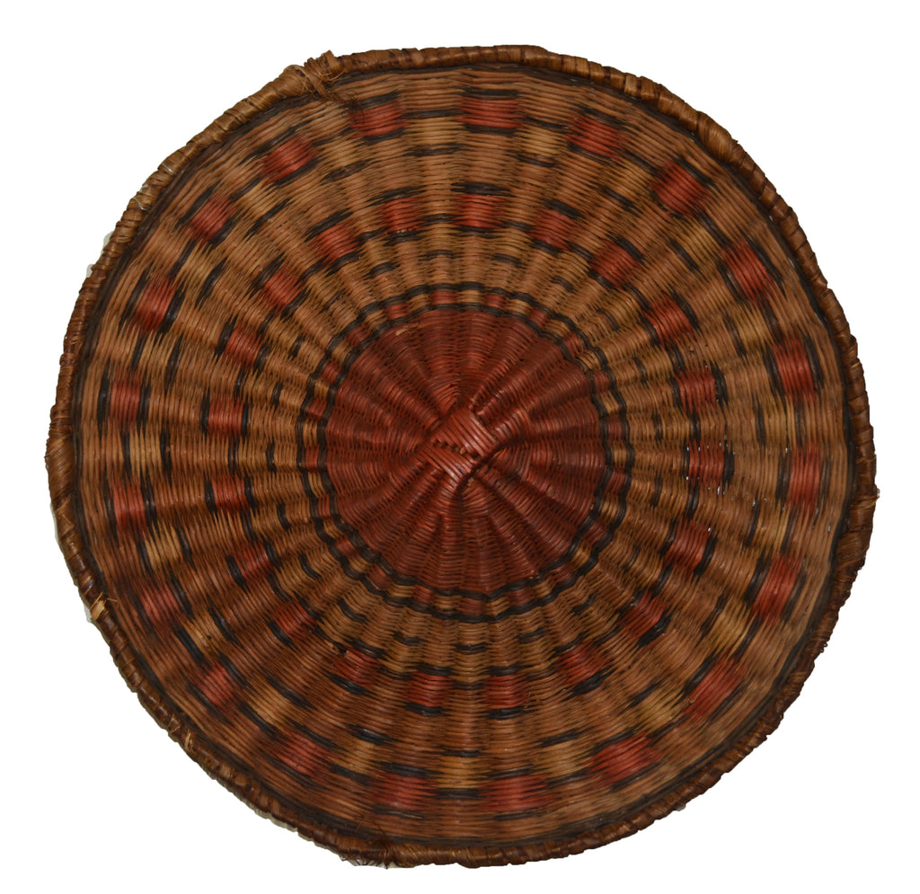 Native American Basket : Hopi Wicker Plaque : Basket 26 - Getzwiller's Nizhoni Ranch Gallery
