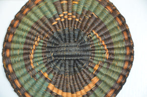 Native American Basket : Hopi Wicker Plaque : Basket 27 - Getzwiller's Nizhoni Ranch Gallery