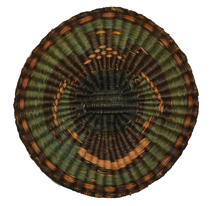Native American Basket : Hopi Wicker Plaque : Basket 27